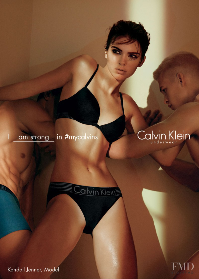 Kendall Jenner featured in  the Calvin Klein Underwear advertisement for Spring/Summer 2016