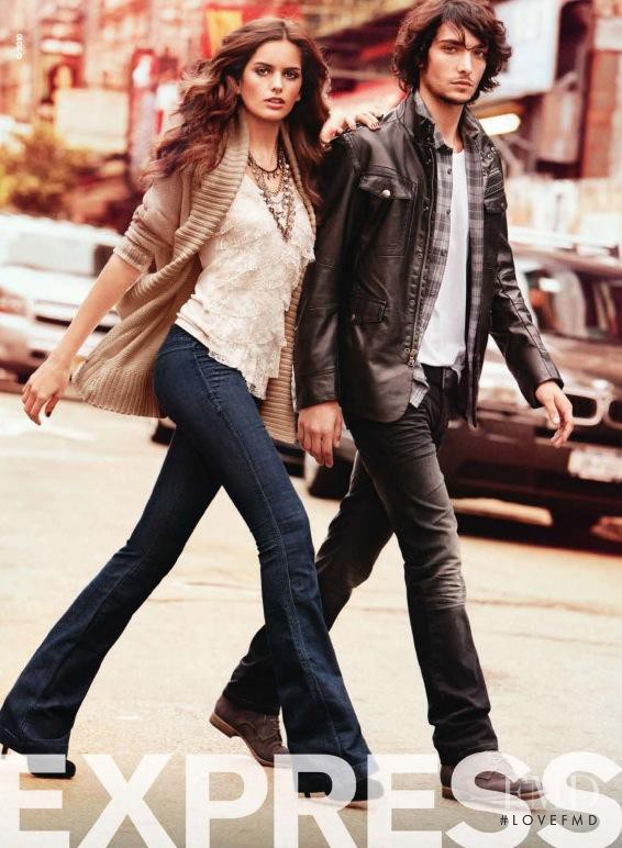 Izabel Goulart featured in  the Express advertisement for Autumn/Winter 2010