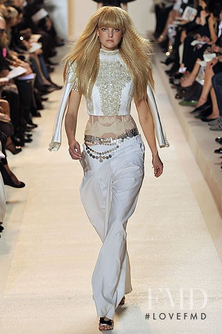 Caroline Trentini featured in  the Christian Lacroix fashion show for Spring/Summer 2009