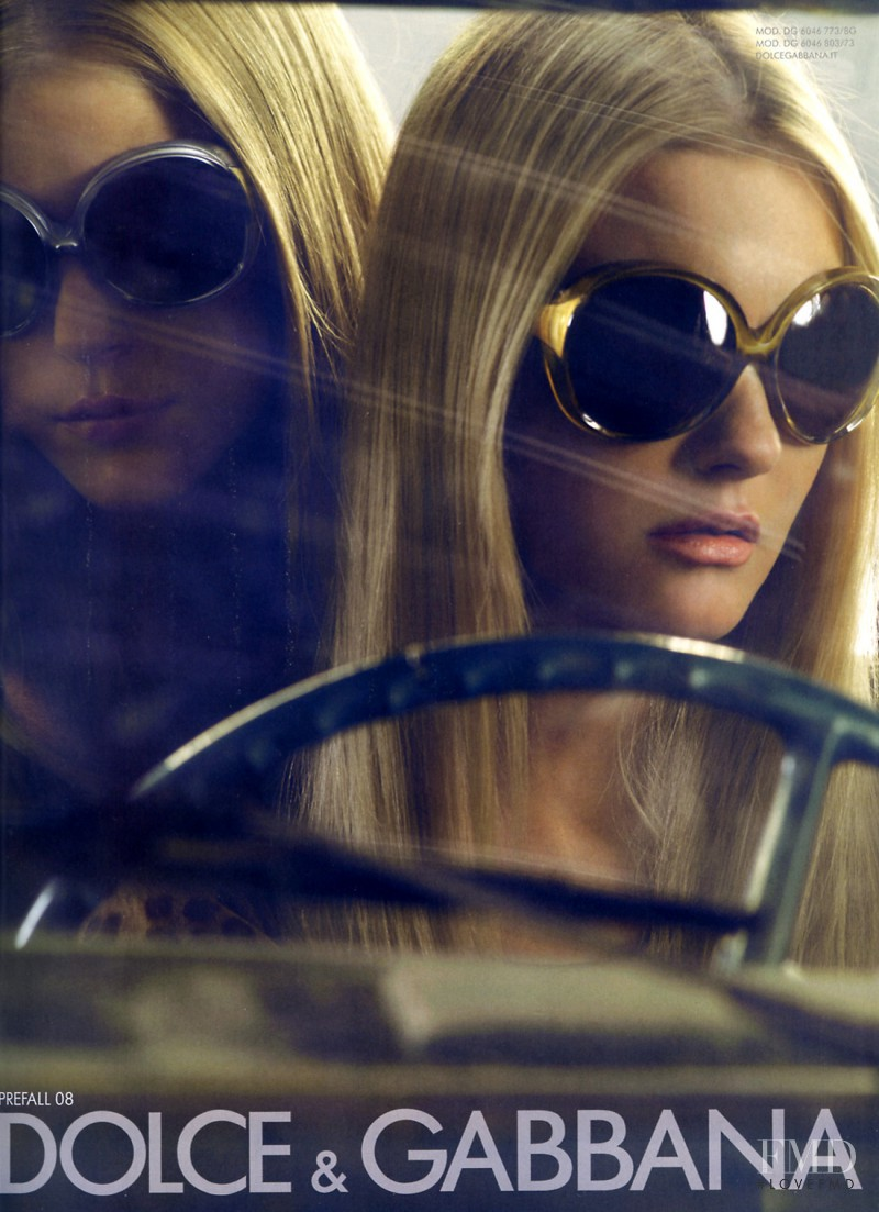 Caroline Trentini featured in  the Dolce & Gabbana - Eyewear advertisement for Pre-Fall 2008