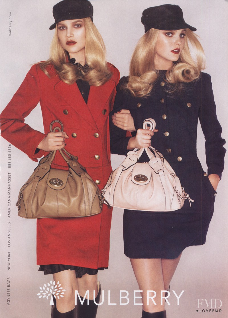 Caroline Trentini featured in  the Mulberry advertisement for Autumn/Winter 2007