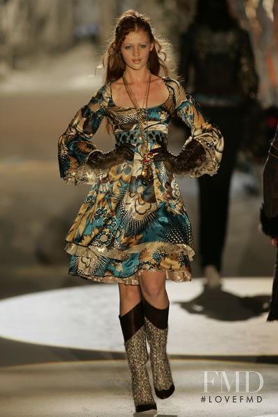 Cintia Dicker featured in  the Just Cavalli fashion show for Autumn/Winter 2005