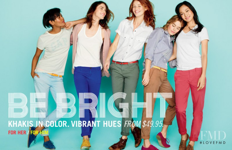 Cintia Dicker featured in  the Gap advertisement for Spring/Summer 2012