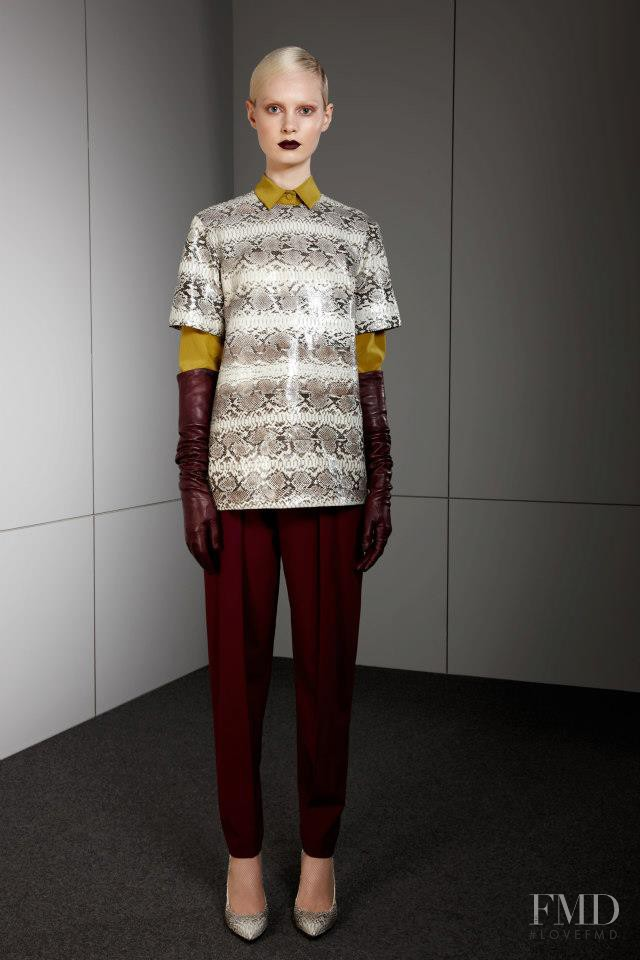 Steffi Soede featured in  the Ports 1961 fashion show for Pre-Fall 2013