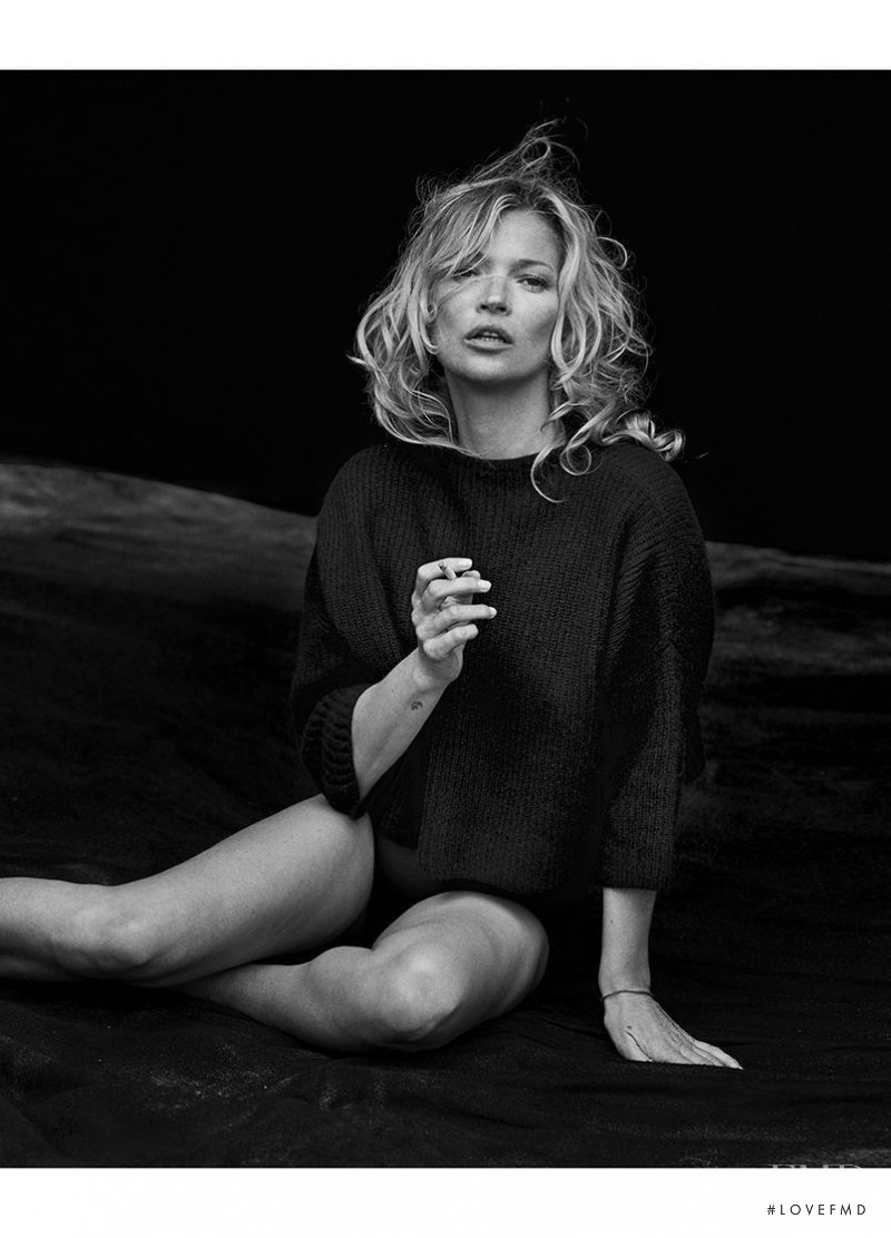 Kate Moss featured in  the Naked Cashmere advertisement for Autumn/Winter 2016
