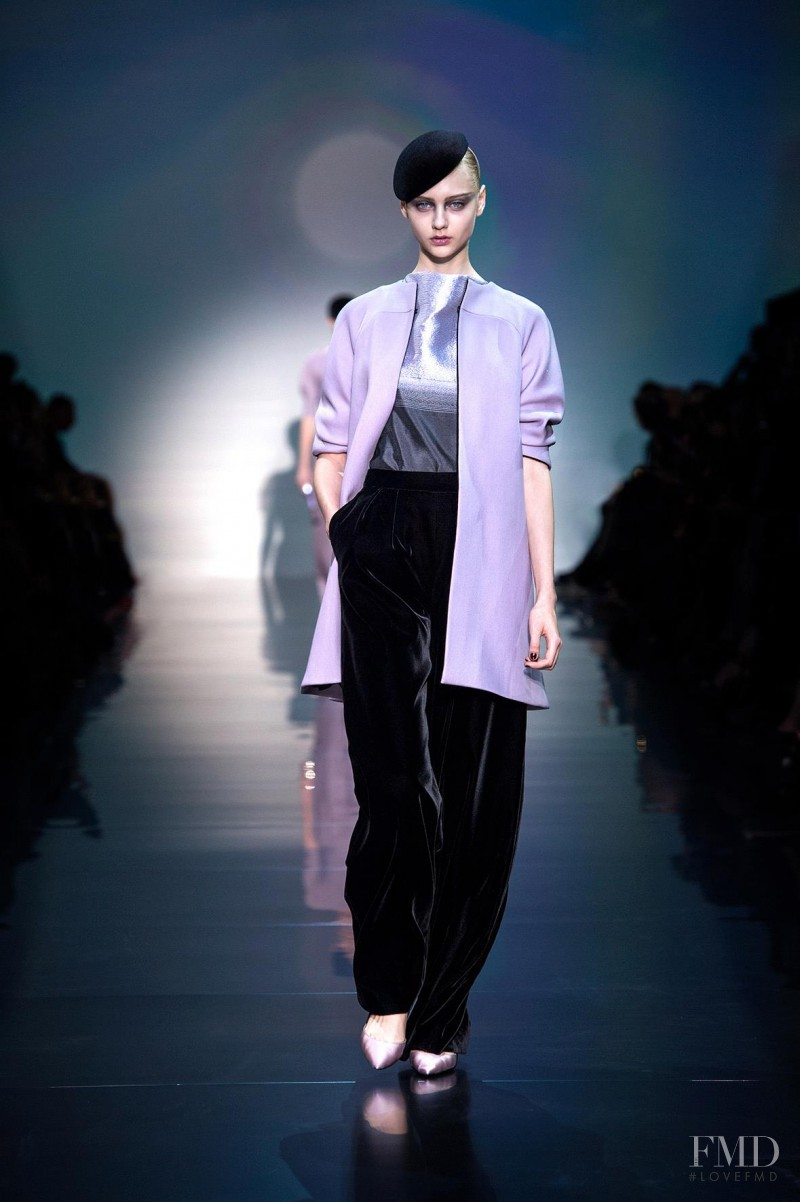 Nastya Kusakina featured in  the Armani Prive fashion show for Autumn/Winter 2012