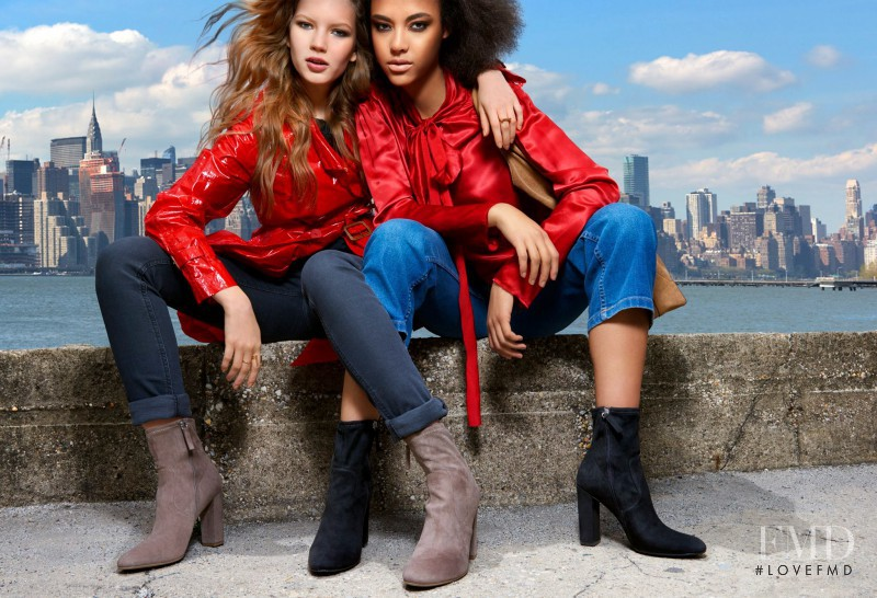Sasha Hronis featured in  the Steve Madden advertisement for Autumn/Winter 2016
