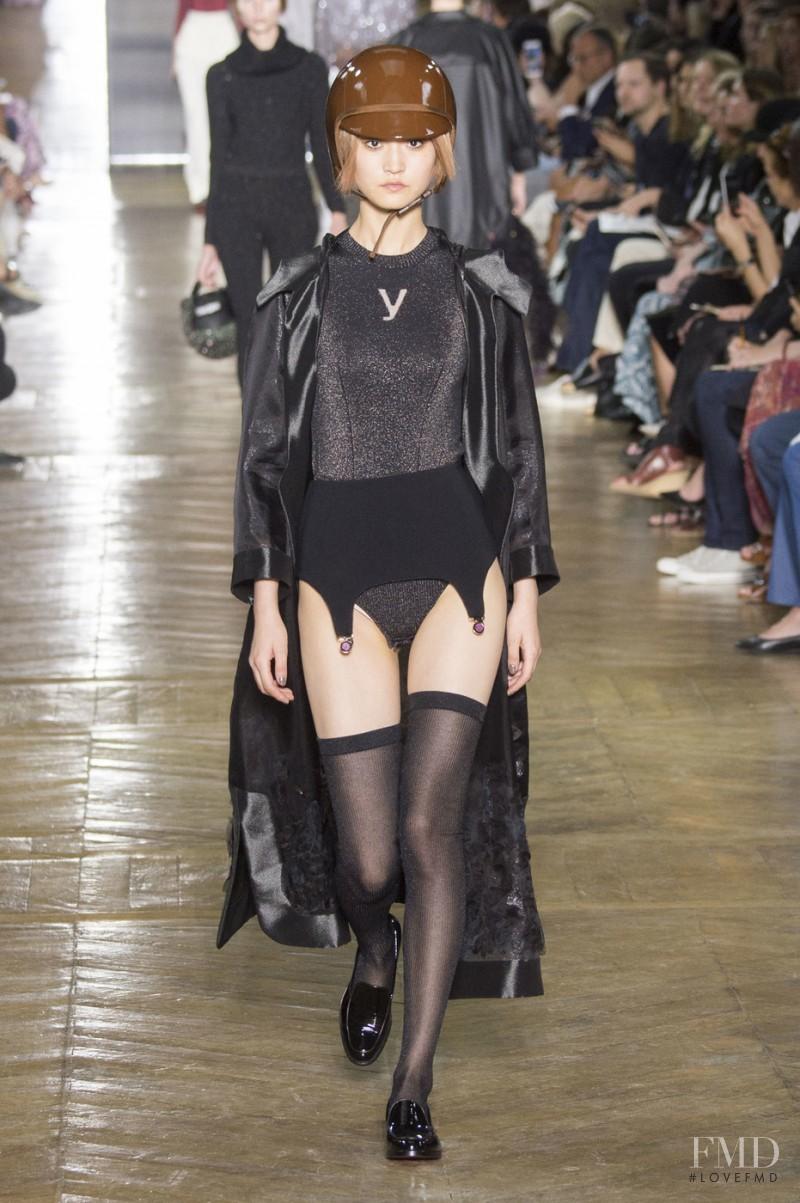 Wangy Xinyu featured in  the Ulyana Sergeenko fashion show for Autumn/Winter 2016