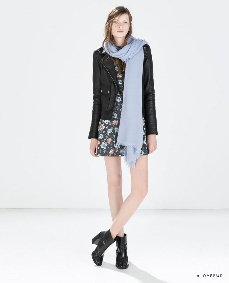 Eva Klimkova featured in  the Zara Collection lookbook for Spring/Summer 2015