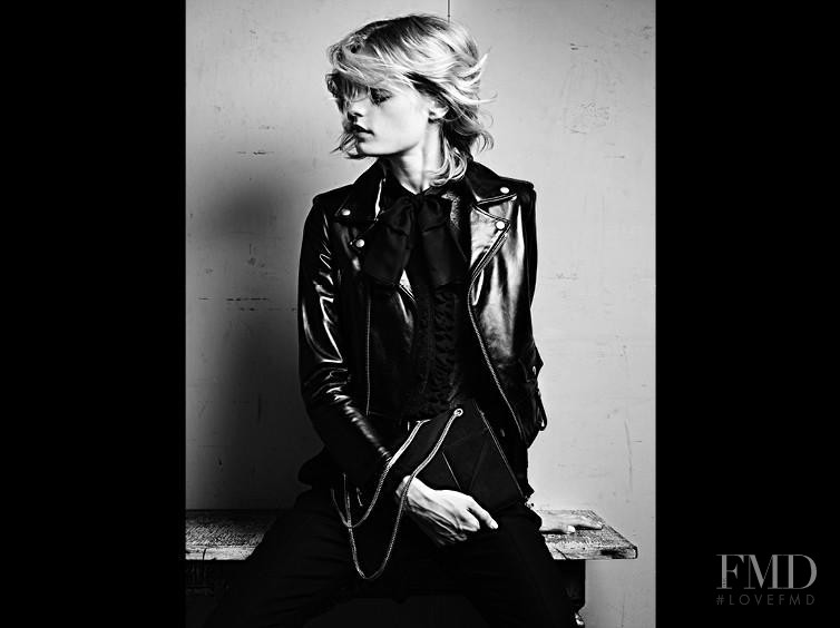 Hanne Gaby Odiele featured in  the Saint Laurent advertisement for Pre-Fall 2013