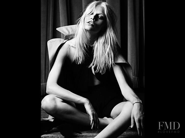 Aline Weber featured in  the Saint Laurent advertisement for Pre-Fall 2013