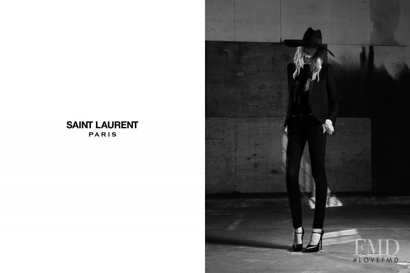 Julia Nobis featured in  the Saint Laurent advertisement for Spring/Summer 2013