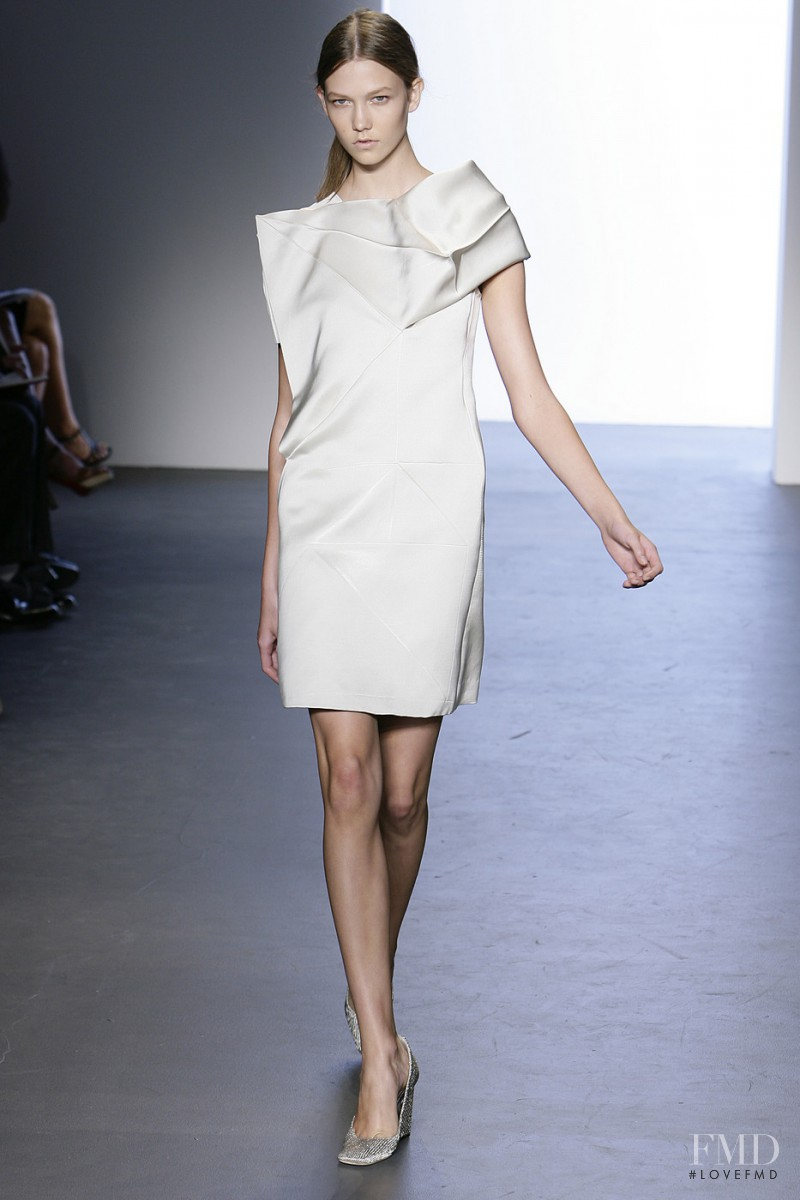 Karlie Kloss featured in  the Calvin Klein 205W39NYC fashion show for Spring/Summer 2009