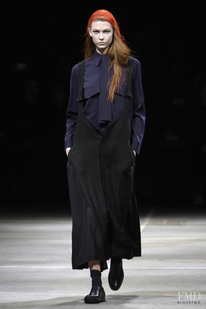 Karlie Kloss featured in  the Yohji Yamamoto fashion show for Autumn/Winter 2010