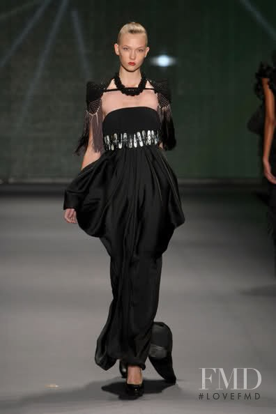 Karlie Kloss featured in  the Aries fashion show for Spring/Summer 2010