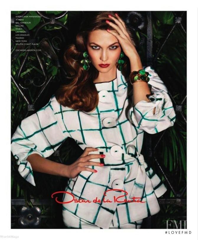 Karlie Kloss featured in  the Oscar de la Renta advertisement for Spring/Summer 2011