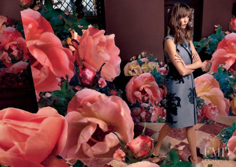 Karlie Kloss featured in  the Moda Operandi advertisement for Spring/Summer 2013