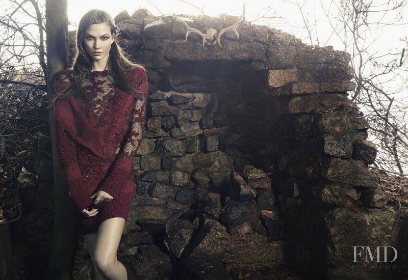 Karlie Kloss featured in  the Animale advertisement for Autumn/Winter 2014