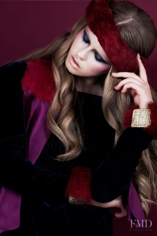 Daniela Hanganu featured in  the Morecco lookbook for Autumn/Winter 2014