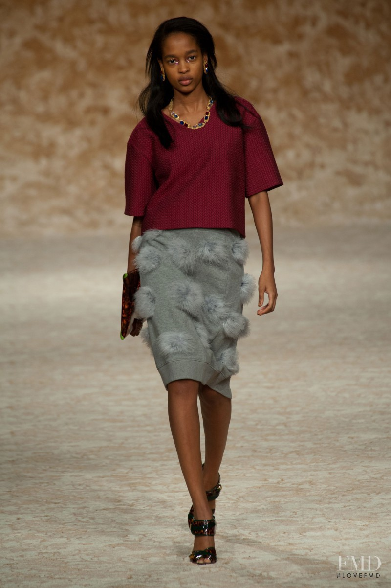 Marihenny Rivera Pasible featured in  the House of Holland fashion show for Autumn/Winter 2013