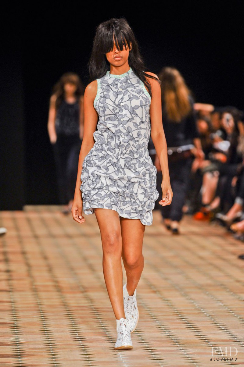 Marihenny Rivera Pasible featured in  the Julien David fashion show for Spring/Summer 2013