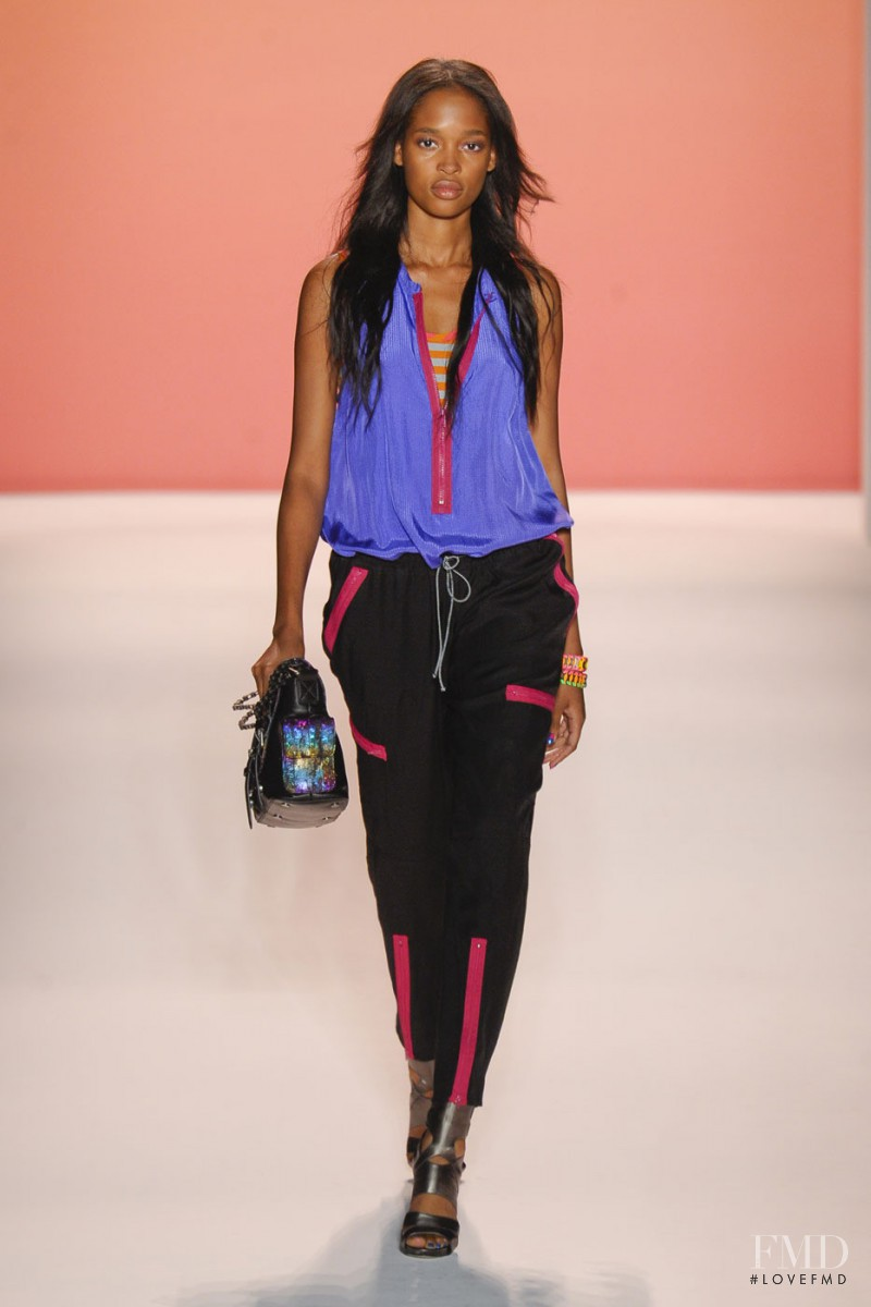Marihenny Rivera Pasible featured in  the Nicole Miller fashion show for Spring/Summer 2013