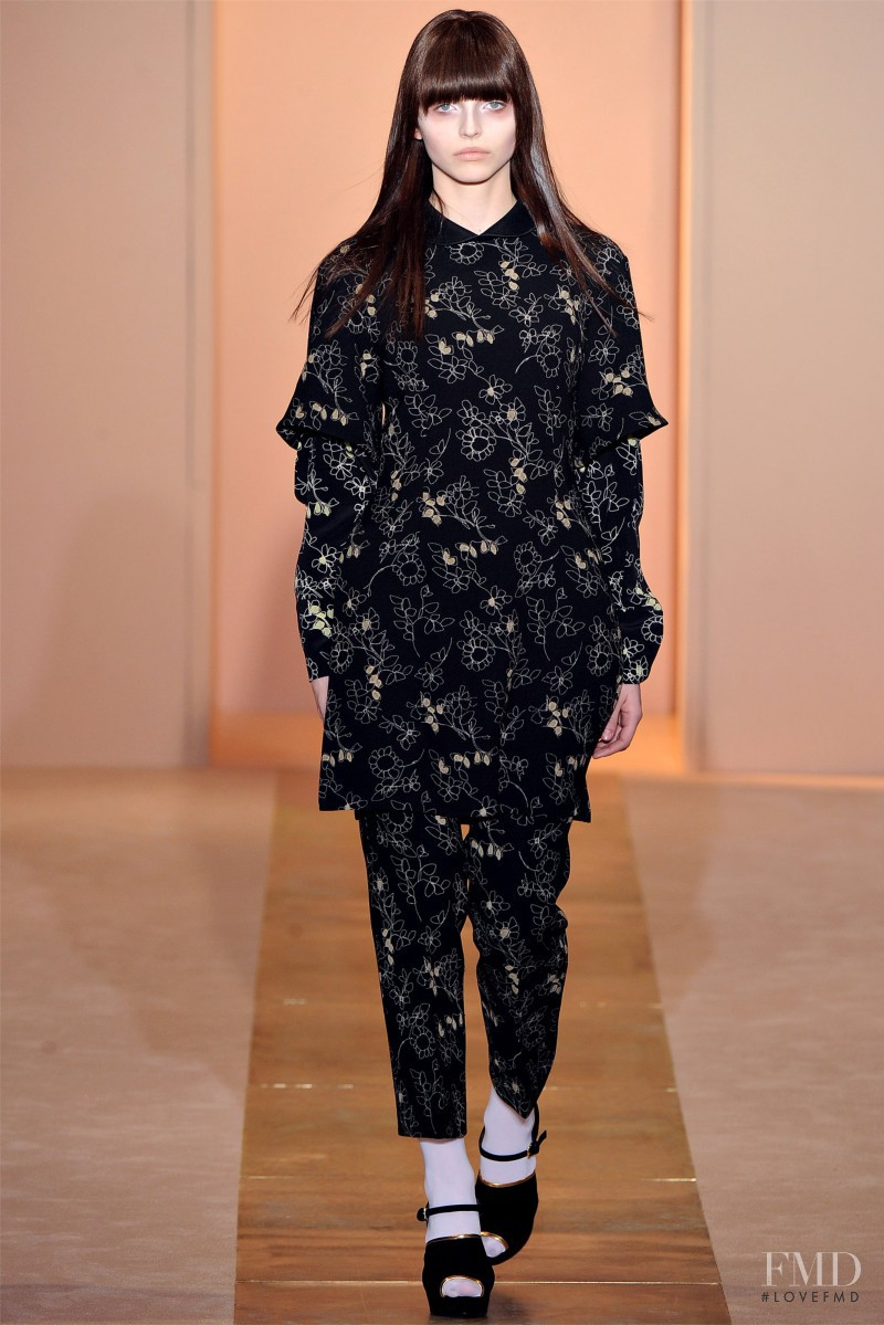 Karlina Caune featured in  the Marni fashion show for Autumn/Winter 2012