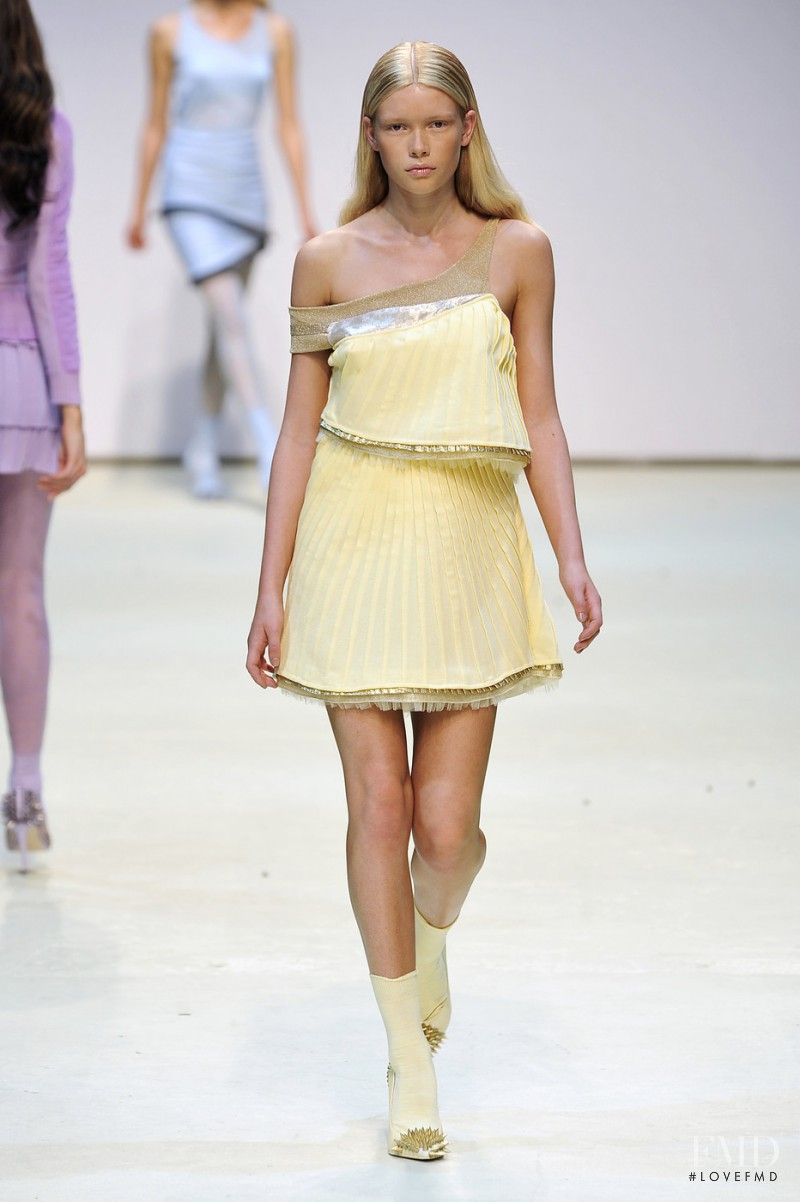 Julia Hafstrom featured in  the Louise Goldin fashion show for Spring/Summer 2010