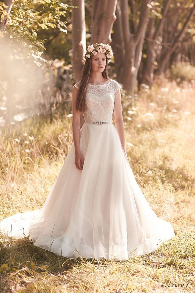 Charlotte Mingay featured in  the Mikaella Bridal lookbook for Spring/Summer 2016