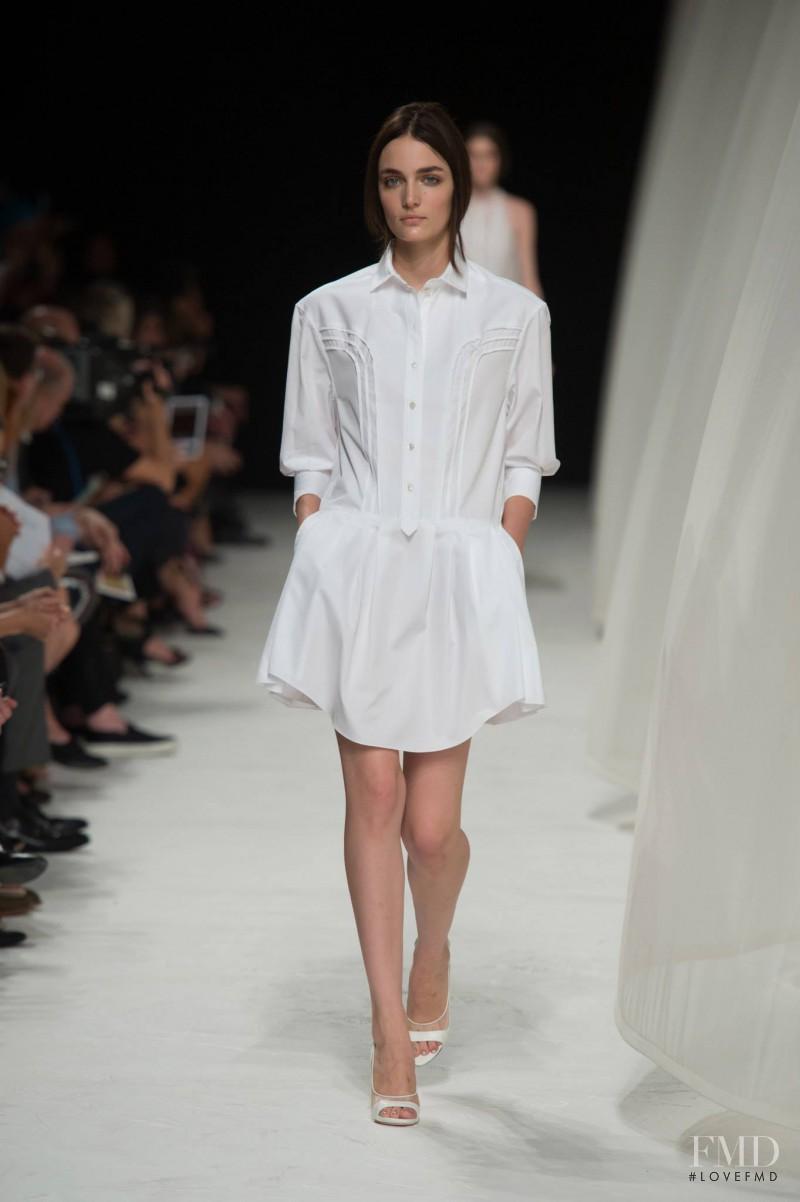 Zuzanna Bijoch featured in  the Nina Ricci fashion show for Spring/Summer 2014