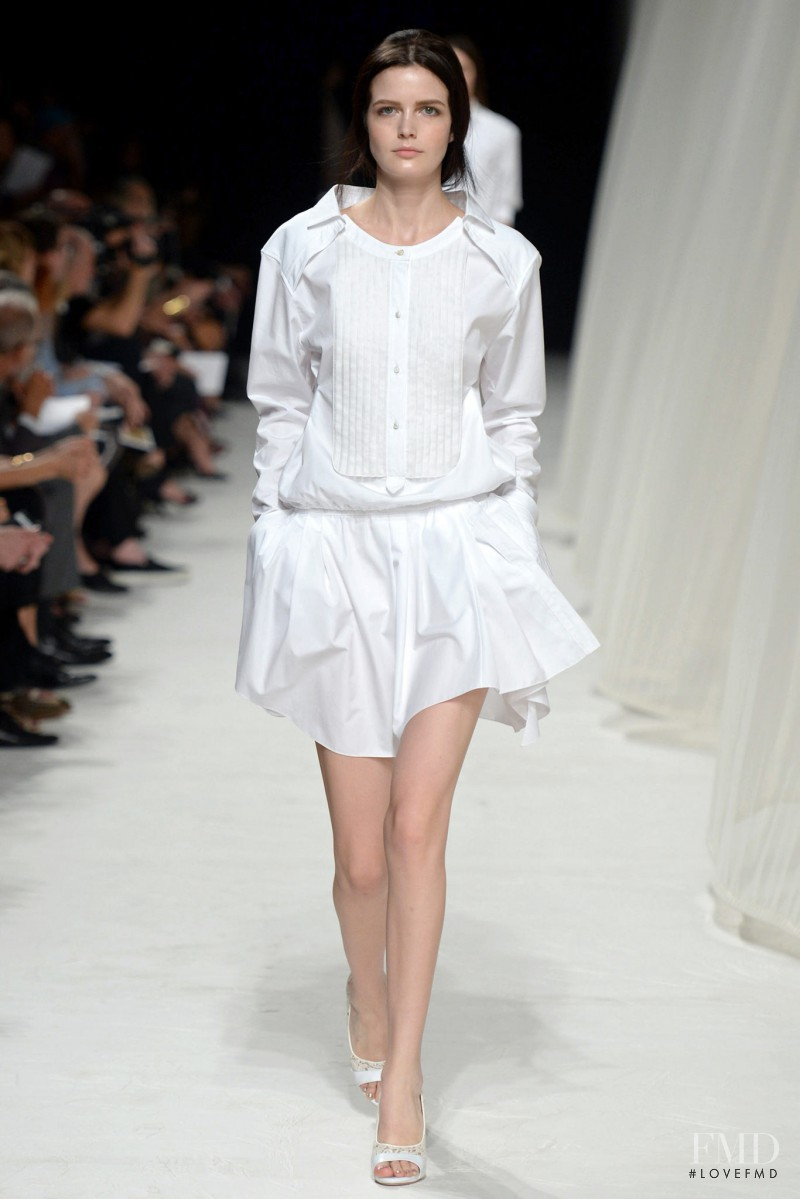 Zlata Mangafic featured in  the Nina Ricci fashion show for Spring/Summer 2014