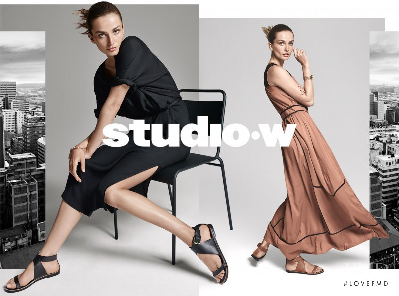Andreea Diaconu featured in  the Studio W by Woolworths lookbook for Spring/Summer 2016