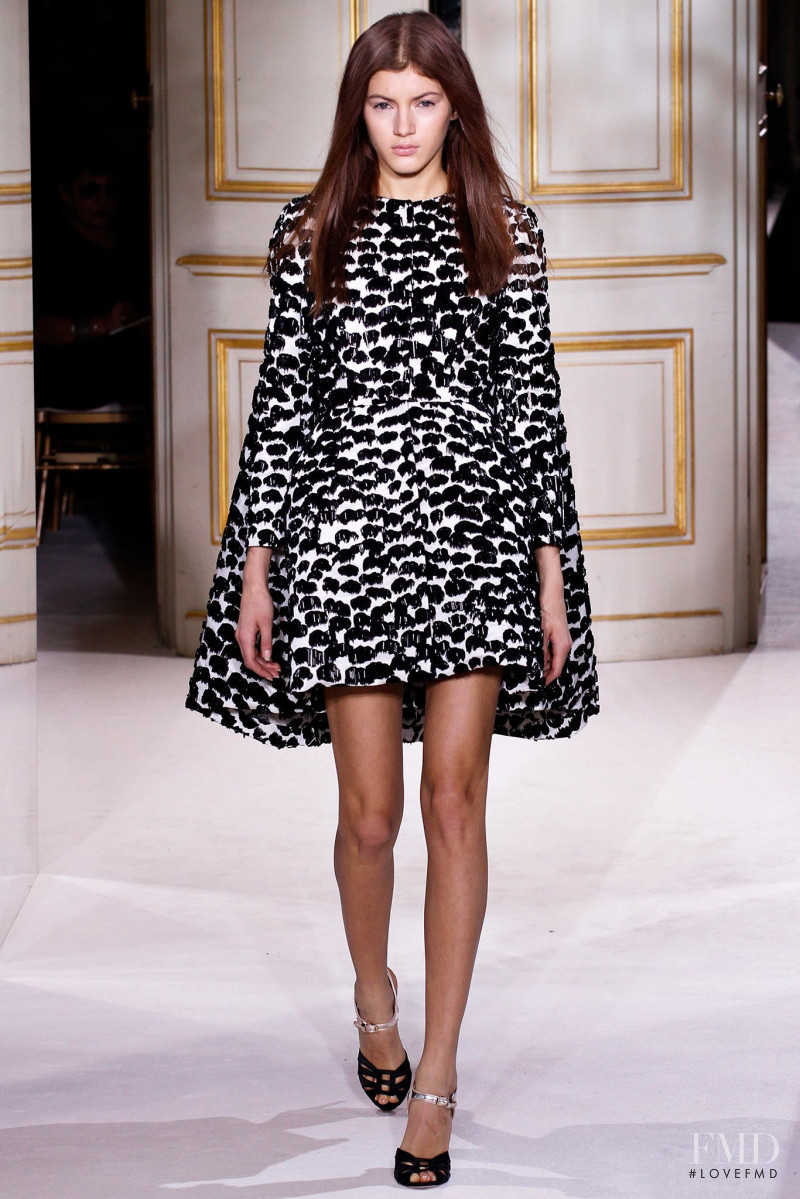 Valery Kaufman featured in  the Giambattista Valli Haute Couture fashion show for Spring/Summer 2013