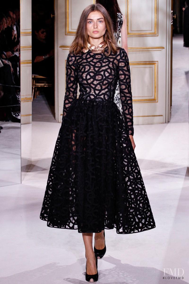 Andreea Diaconu featured in  the Giambattista Valli Haute Couture fashion show for Spring/Summer 2013