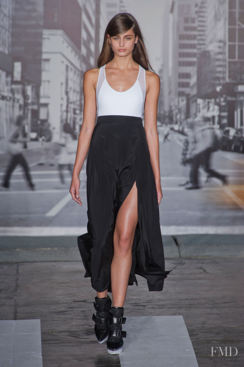 Taylor Hill featured in  the DKNY fashion show for Spring/Summer 2013