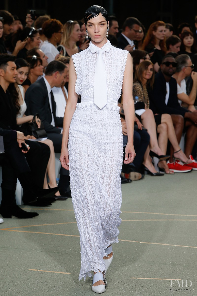 Mariacarla Boscono featured in  the Givenchy fashion show for Spring/Summer 2017