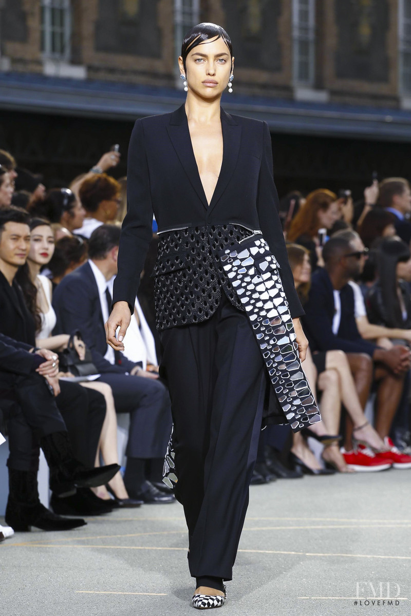 Irina Shayk featured in  the Givenchy fashion show for Spring/Summer 2017