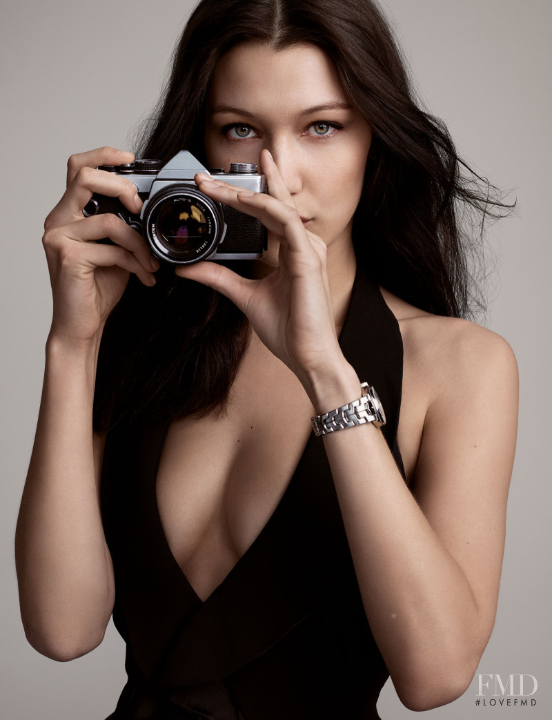 Bella Hadid featured in  the Tag Heuer advertisement for Spring/Summer 2017
