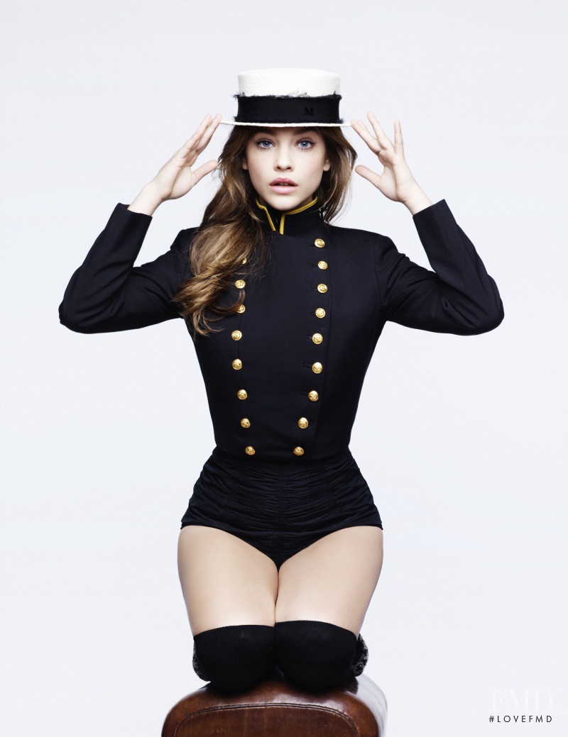 Barbara Palvin featured in  the Maison Michel advertisement for Spring/Summer 2012