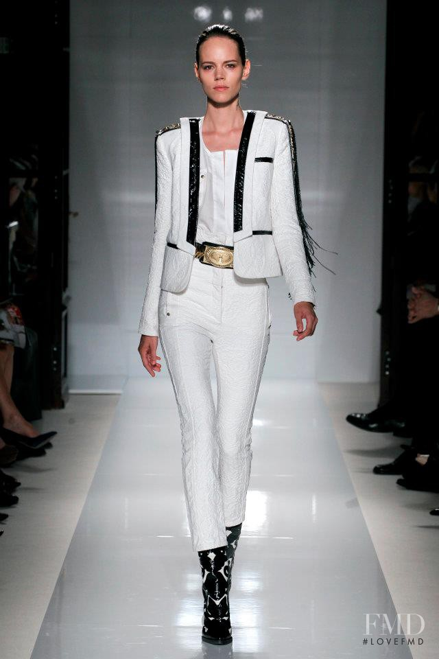 Freja Beha Erichsen featured in  the Balmain fashion show for Spring/Summer 2012