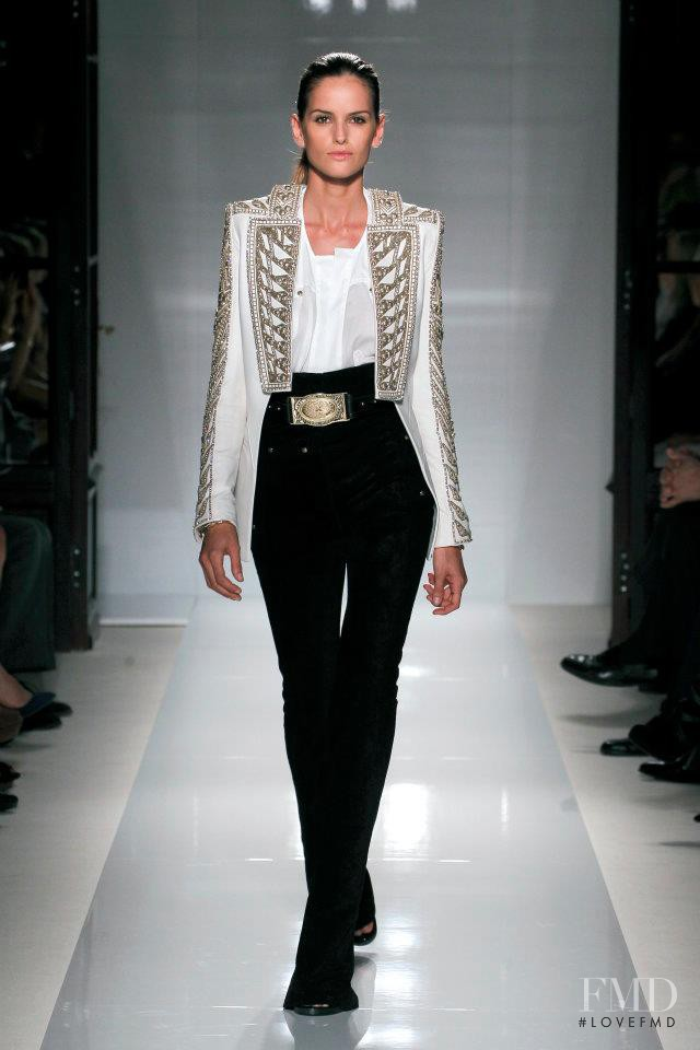 Izabel Goulart featured in  the Balmain fashion show for Spring/Summer 2012