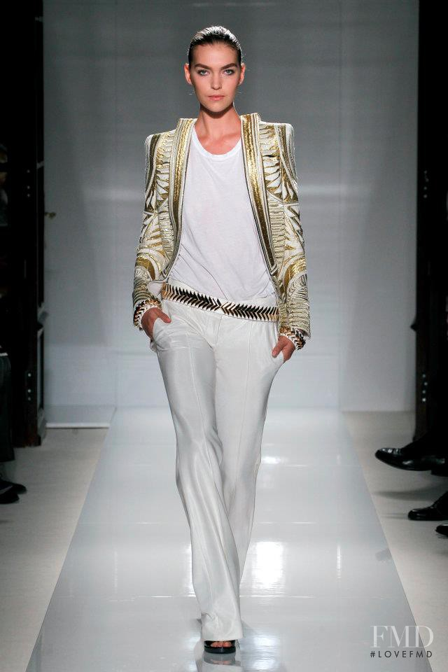 Arizona Muse featured in  the Balmain fashion show for Spring/Summer 2012