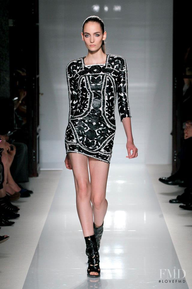 Zuzanna Bijoch featured in  the Balmain fashion show for Spring/Summer 2012