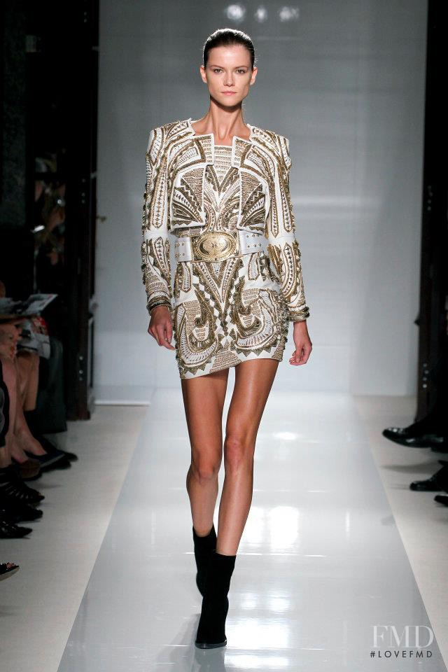 Kasia Struss featured in  the Balmain fashion show for Spring/Summer 2012