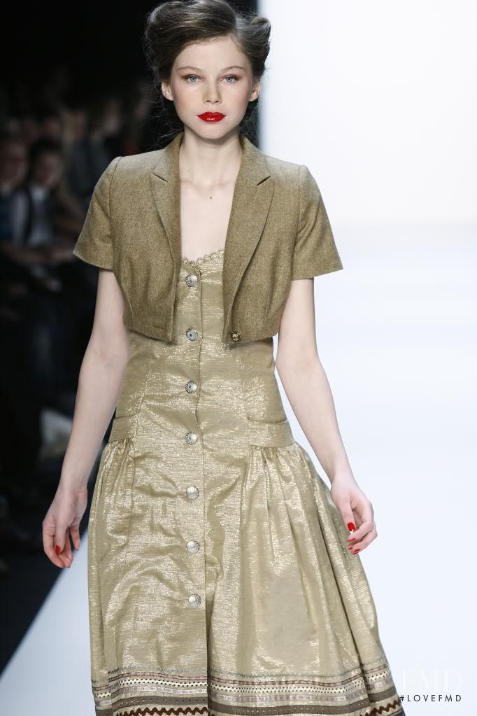 Agnieszka Pulapa featured in  the Lena Hoschek fashion show for Autumn/Winter 2010