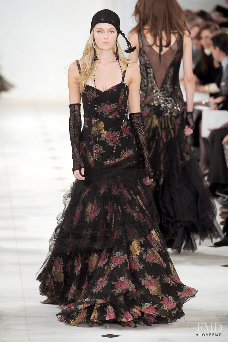 Valentina Zeliaeva featured in  the Ralph Lauren Collection fashion show for Autumn/Winter 2010