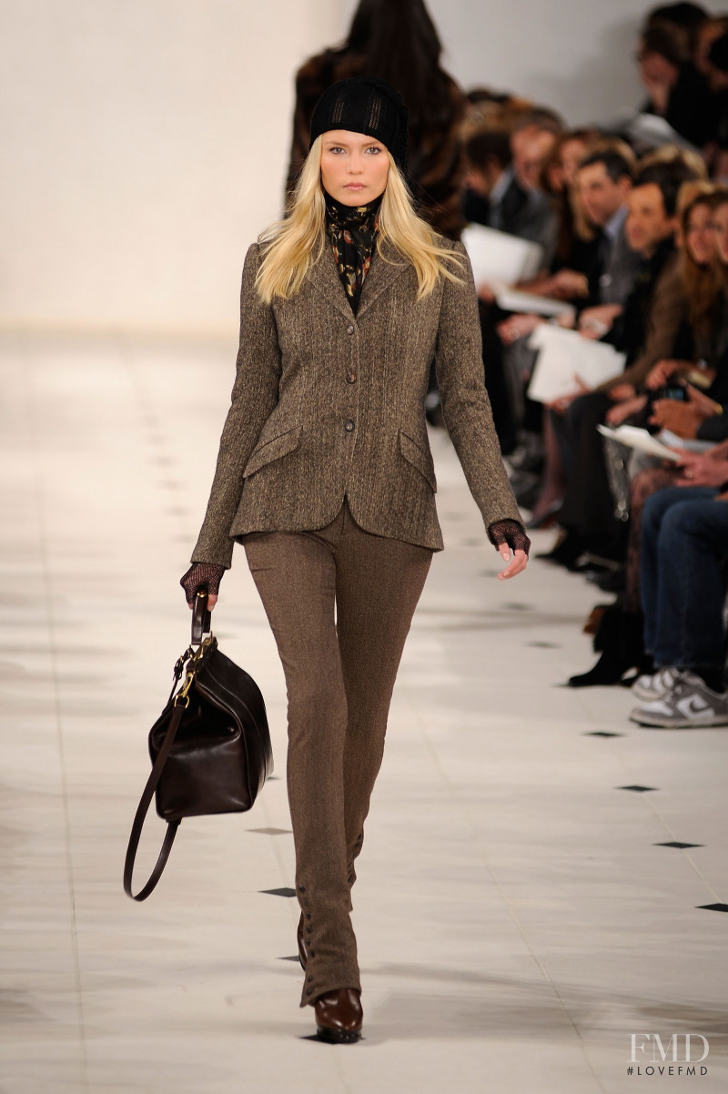Natasha Poly featured in  the Ralph Lauren Collection fashion show for Autumn/Winter 2010
