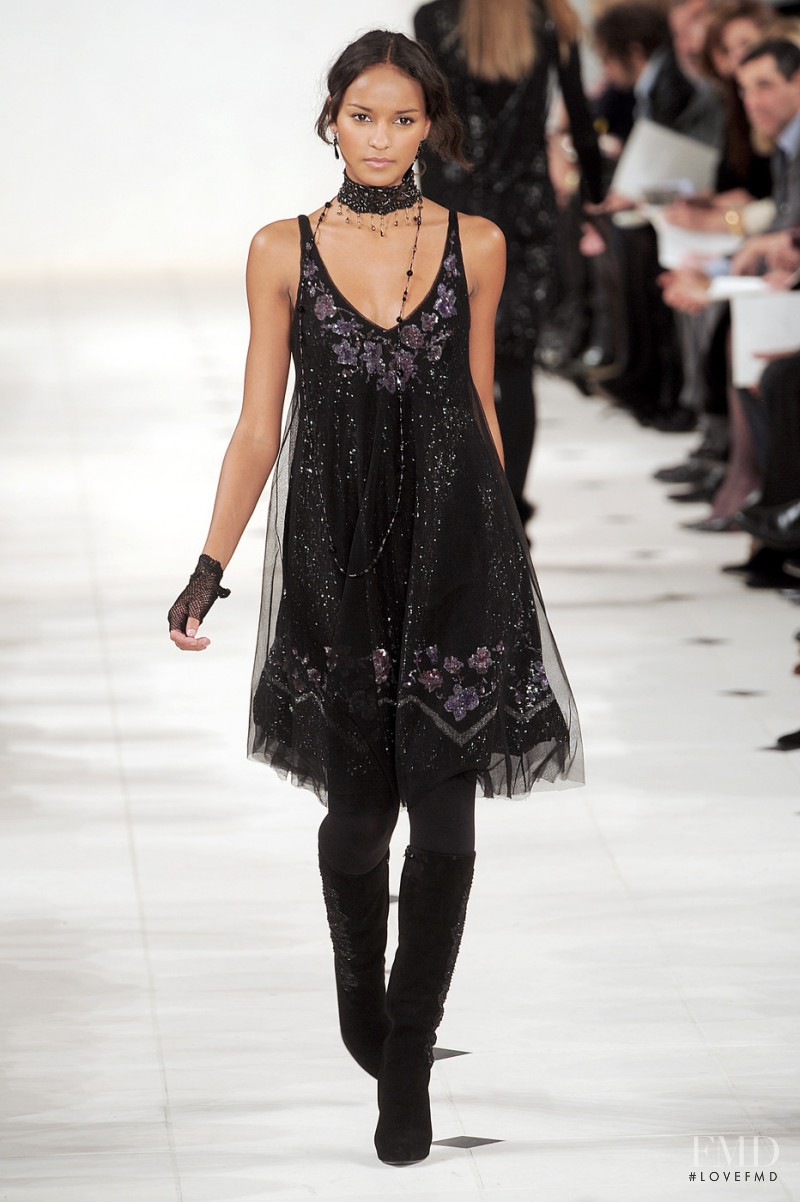 Gracie Carvalho featured in  the Ralph Lauren Collection fashion show for Autumn/Winter 2010
