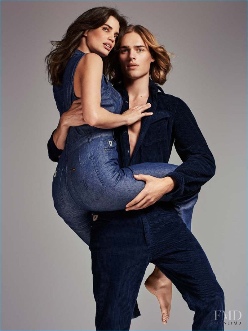Rianne ten Haken featured in  the Lois Jeans advertisement for Spring/Summer 2017
