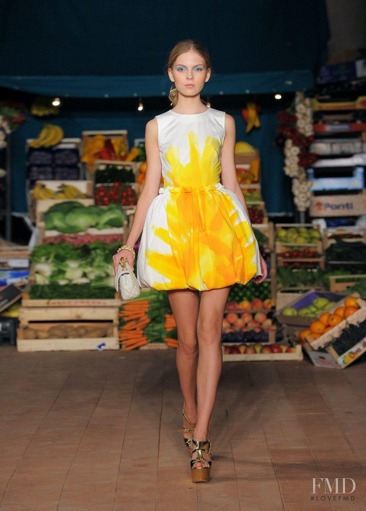 Kate Kosushkina featured in  the Boutique Moschino fashion show for Spring/Summer 2012